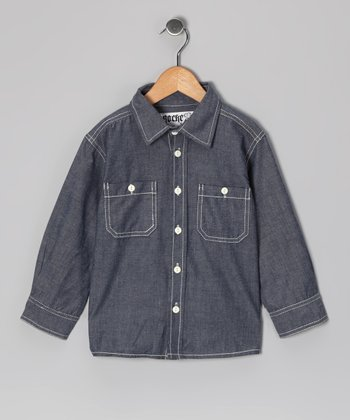 Indigo Chambray Barry Button-Up - Infant, Toddler & Boys