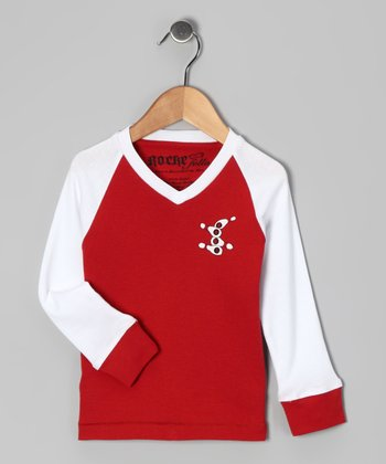 Red & White Kim Tee - Infant, Toddler & Kids