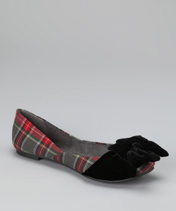 Gray Plaid Marlie Flat