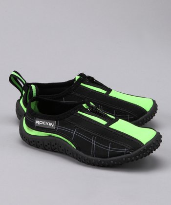 Black & Lime Aqua Shoe