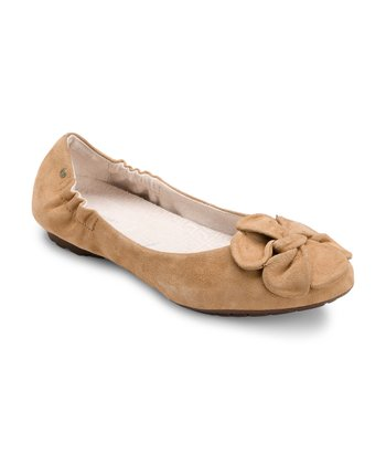 Straw Etty Flower Scrunch Flat