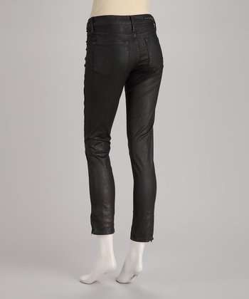Rockstar Sushi Black 5-Pocket Coated Jeggings