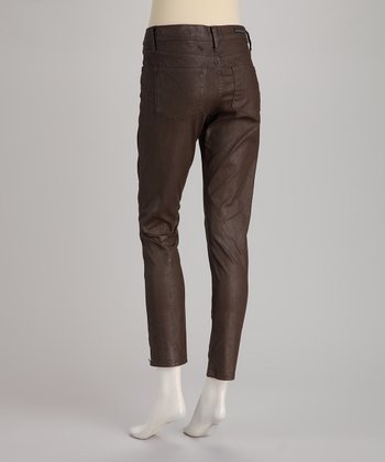 Rockstar Sushi Brown 5-Pocket Coated Jeggings