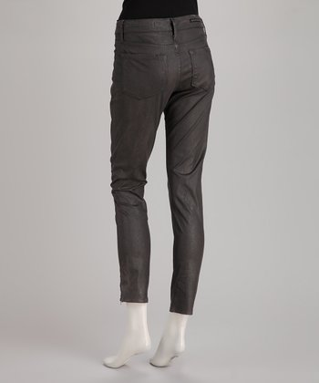 Rockstar Sushi Sharkskin 5-Pocket Coated Jeggings