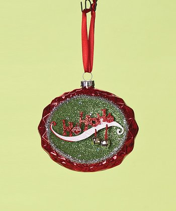 Red 'Ho Ho Ho' Oval Ornament