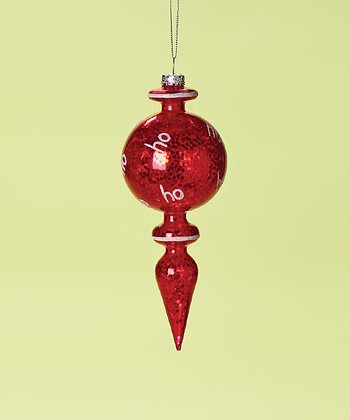 Red Round Finial Ornament