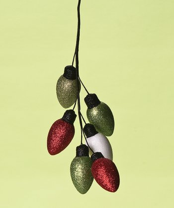 Green & Red Lightbulbs Ornament