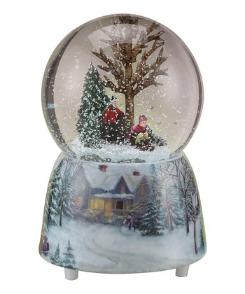 Musical Sledding Snow Globe