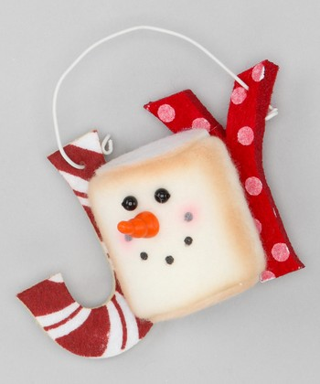 Red & White 'Joy' Marshmallow Ornament
