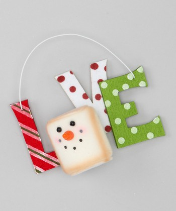 Red & Green 'Love' Marshmallow Ornament