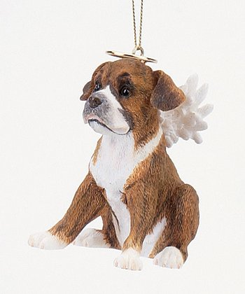 Brown Puppy Angel Ornament