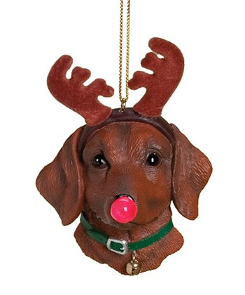 Brown Dog Light-Up Ornament