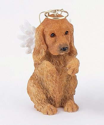 Golden Retriever Puppy Angel Ornament
