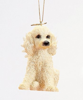 Poodle Puppy Angel Ornament