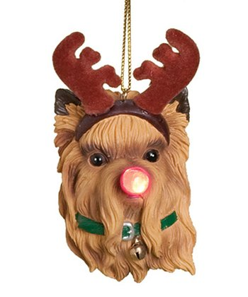 Yorkie Dog Light-Up Ornament