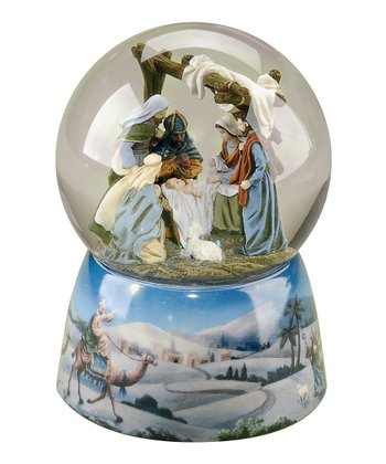 Nativity Musical Glitter Globe