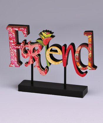Red 'Friend' Standing Plaque
