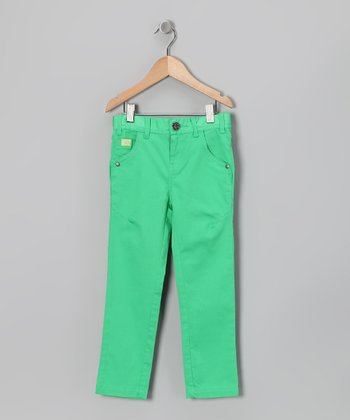 Island Green Straight-Leg Pants - Toddler & Girls