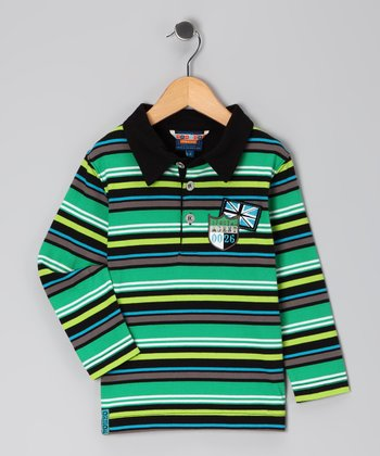 Bright Green Stripe Polo - Toddler & Boys
