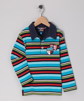 Caribbean Sea Stripe Polo - Toddler
