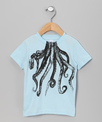 Light Blue Octopus Body Tee - Toddler & Kids