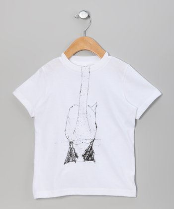 White Swan Body Tee - Toddler & Kids