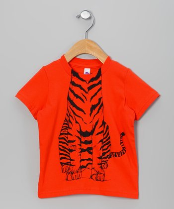 Orange Tiger Body Tee - Toddler & Boys