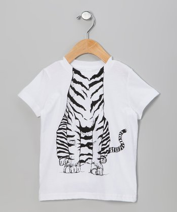 White Tiger Body Tee - Toddler & Boys