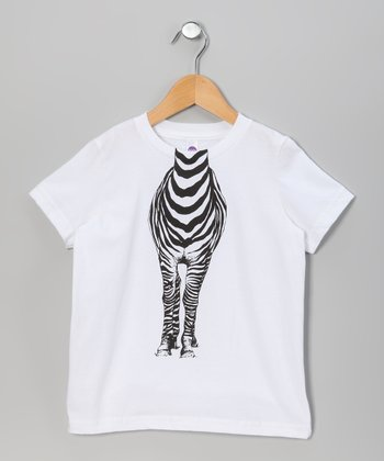 White Zebra Body Tee - Toddler & Kids
