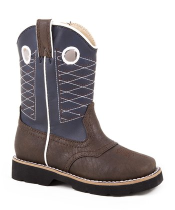 Dark Brown Western Riderlite Cowboy Boot