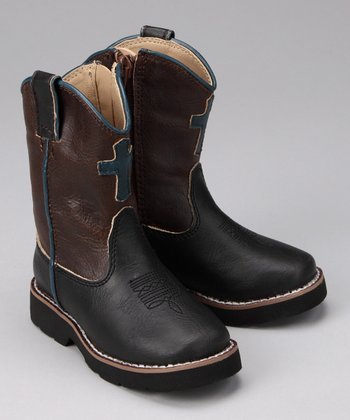 Black Fancy Riderlite Cowboy Boot