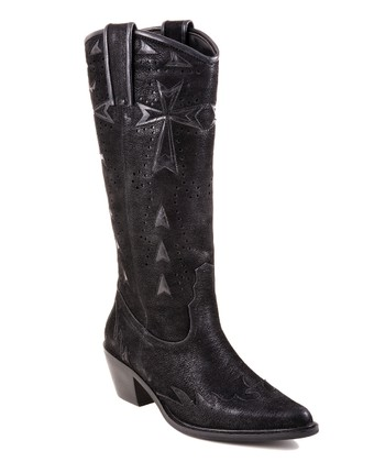 Black Cowboy Boot - Women