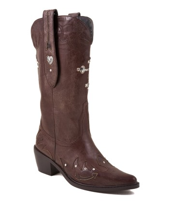 Brown Cross Cowboy Boot - Women
