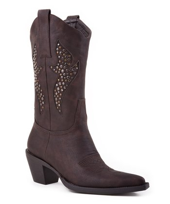 Brown Vintage Cowboy Boot - Women