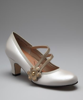 Silver Camille Mary Jane Pump