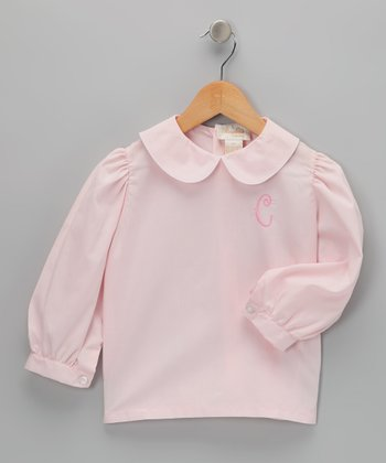 Pink Initial Blouse - Infant, Toddler & Girls