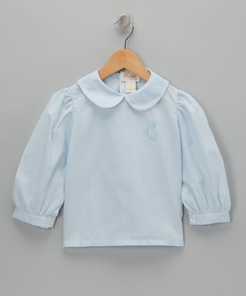 Blue Initial Blouse - Infant, Toddler & Girls