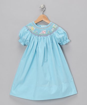 Turquoise Lamb Bishop Dress - Infant & Toddler