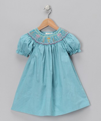Teal Sea Life Bishop Dress - Infant, Toddler & Girls