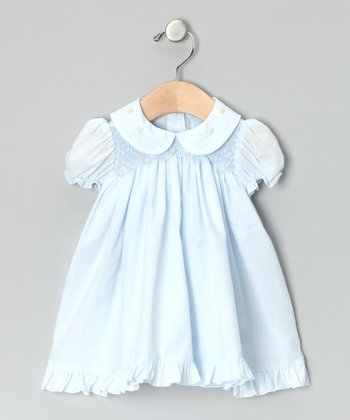 Blue Rose Smocked Dress