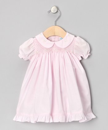 Pink Flower Smocked Dress