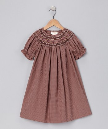 Brown English Bishop Dress - Toddler & Girls