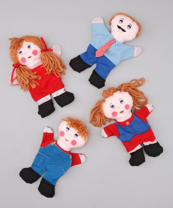 Red & Blue Family Hand Puppet Set