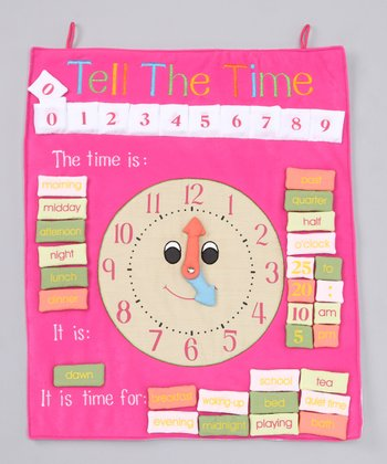 Pink 'Tell The Time' Wall Hanging