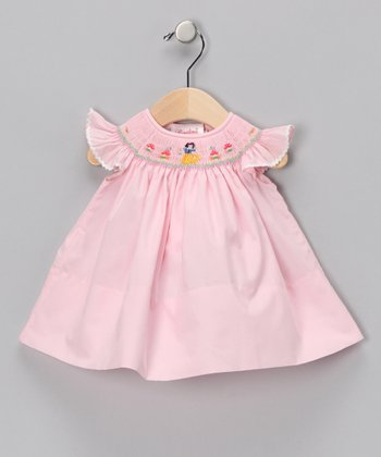 Pink Snow White Angel-Sleeve Dress - Infant & Girls