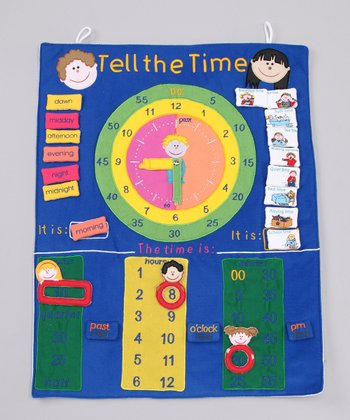 Blue  'Tell The Time' Wall Hanging