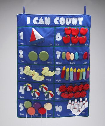 Navy 'I Can Count' Wall Hanging