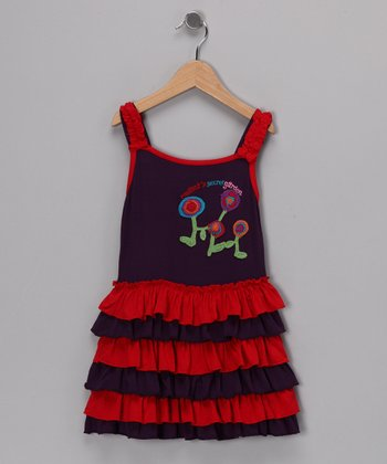 Purple & Red Valerie Dress