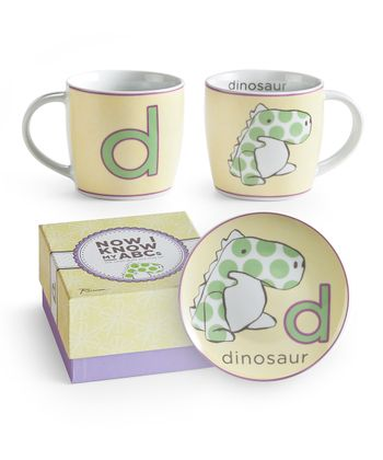 D is for Dinosaur Mug & Plate