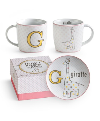 G is for Giraffe Mug & Plate